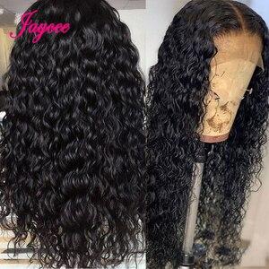 Image 2 - Jaycee Water Wave Human Hair Wigs 150% Density Lace Frontal Wigs For Women Water Wave Lace Front Human Hair Wigs Brazilian Wig