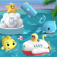 1Pcs ABS Plastic Bathtub Showers Toys Cute Animal Baby Bath Toy Pull Ring Design Shower Floating Toys Baby Bathing Floating Toys cute cartoon animal baby bath toy bathroom plastic mini bee water fountain shower kids bathtub playing bathing tools