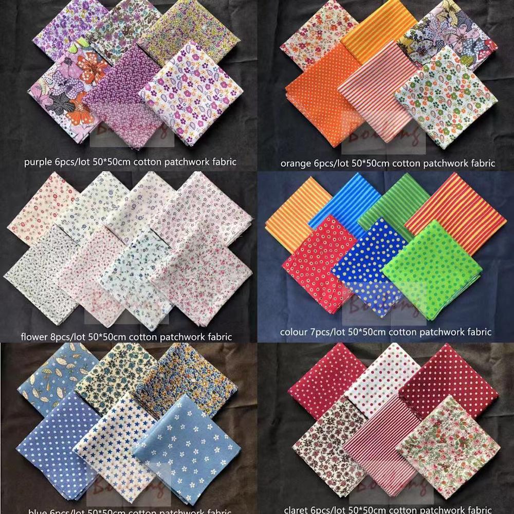 50*50 cmСмешанные ситцевой ткани для пошива лоскутное шитье ткань для рукоделия материал ручной работы кукла Костюмы
