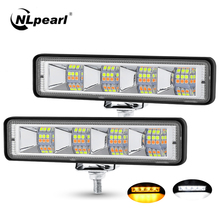 NLpearl 6 인치 12v 24V LED 라이트 바 Offroad 자동차 지프 보트 트럭에 대 한 LED 바 Suv Atv 4x4 스포트 라이트 화이트 옐로우 LED 작업 빛