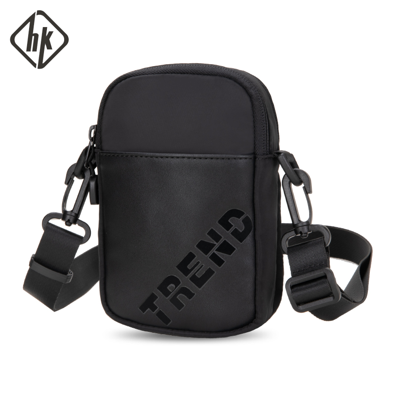 Hk Men Belt Bag Waist Packs Wallet Oxford Waist Bag Mobile Phone Bag Fanny Pen Hold Cigarette Cose Pack Shoulder Chest Pochete
