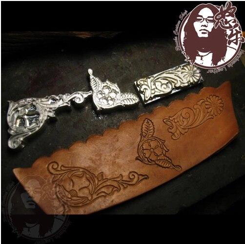 3pcs Set Corner Flower Leather Carving  Designer Leather Craft Embossing Template,leather Punches Tool Set Deri El Aletleri