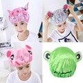Детская душевая шапочка, двухслойная водонепроницаемая шапочка для душа с мультяшным рисунком, милый защитный головной убор для ванны, акс...