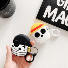 Japan Cartoon Anime One Piece Earphone Case For Apple Airpod 1 2 Wireless Bluetooth Headphone Headset Cover Charging Box(China)
