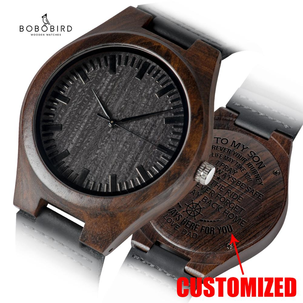 Personalized Engraved Wooden Watches Gifts For Dad Mom friends Birthday Anniversary Day Groomsman Gift