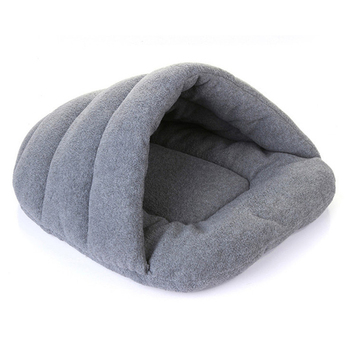 Winter Warm Pet Dog Bed Puppy Cat House Small Dog Cat Soft Lamb Velvet Blanket Cushion Sleeping Bed Indoor Pet Cave Kennel Nest image