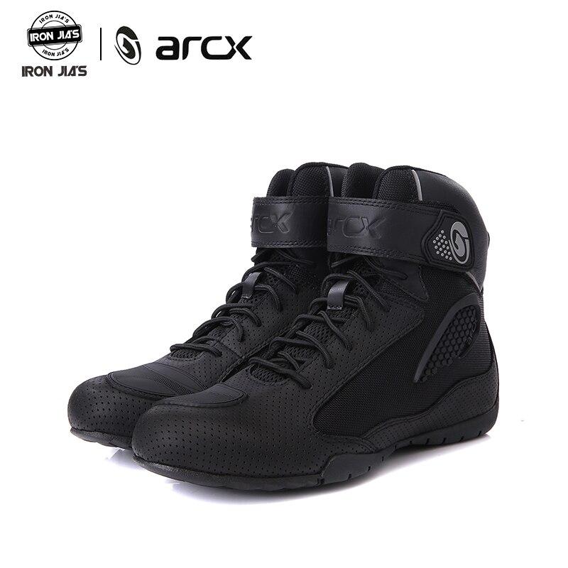 ARCX motocykl buty w stylu Vintage na co dzień mężczyźni buty motocyklowe buty jeździeckie oddychający ochronne buty wyścigowe buty popularne