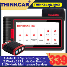 Thinkscan Max-herramientas de diagnóstico profesional automático, sistema completo de codificación ECU, Control bidireccional, reinicio de 28, CRP909, MK808, escáner OBD2