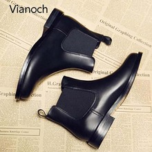 Vianoch New Fashion Ankle Boots Women Fall Autumn Flats Shoes Boot Woman wo1808142