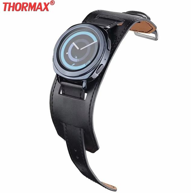 22mm 20mm 정품 가죽 시계 밴드 커프 스트랩 팔찌 삼성 기어 S3 기어 S2 화웨이 시계 2 Huami AMAZFIT Watchband sams