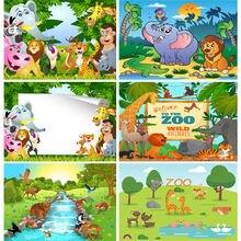 Shuozhike Дети День рождения фотографии фоны мультфильм Животные