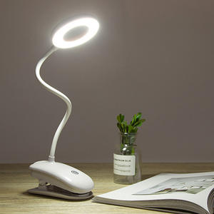 Dimmer Clip-Lamp Table-Light Study Rechargeable Touch-Clip Stepless 7000K USB 3modes