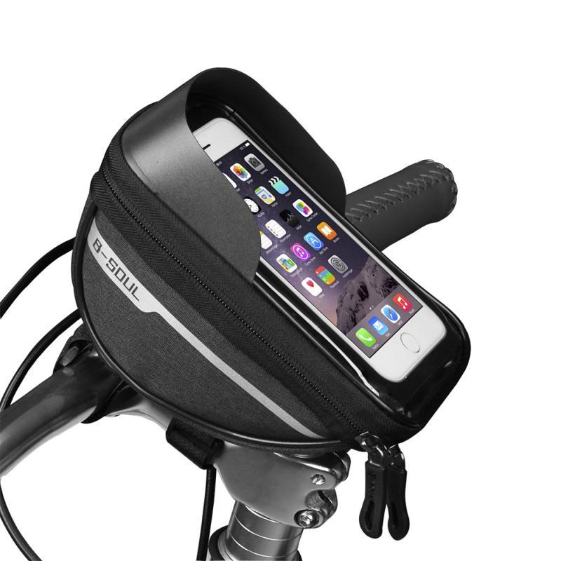 Bicycle Cycling Bike Head Tube Handlebar Phone Bag Case Holder Phone Mount Waterproof Touchscreen MTB Cycling Bag Accessories 6