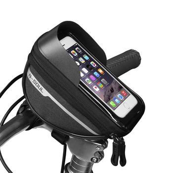 Bicycle Cycling Bike Head Tube Handlebar Phone Bag Case Holder Phone Mount Waterproof Touchscreen MTB Cycling Bag Accessories 11