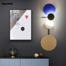 Artistic Home Deco LED Wall Lamp Multi-Color Bedroom Bedside Light Living Dining Room Lighting Fixture With Switch