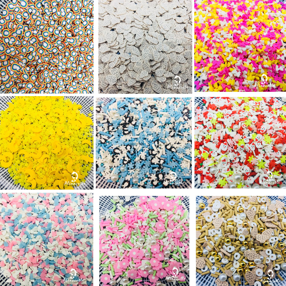 20g Mix çalkalayıcılar noel cadılar bayramı çiçek balık yay reçine DIY malzemeleri çivi sanat polimer yumuşak kil DIY Sequins karalama defteri
