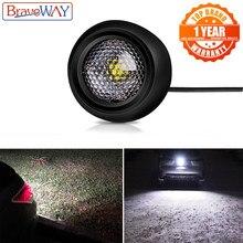 BraveWay LED zewnętrzne światło cofania do samochodów SUV ATV pomocnicze lampa robocza Led 12V lampa samochodowa 1156 P21W 1157 T20 T10 LED W5W Odwracanie świateł