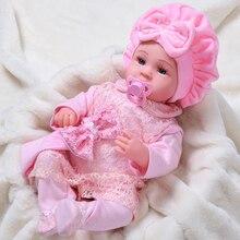 Милые Игрушки для маленьких девочек, 45 см, куклы Новорожденные, игрушки, плюшевые тканевые куклы для новорожденных, мягкие силиконовые кукл...