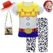 Аниме-игрушка, история 4, Шериф Вуди, костюм для косплея, Джесси из истории игрушек, детские пижамы с героями мультфильмов для мальчиков и девочек, Детский костюм для Хэллоуина