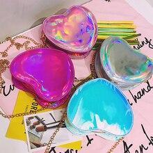 Colorful Love Heart Shoulder Bag Clutch Chidren Shoulder Messenger Crossbody Bag Children Kids Girls Shoulder Bag Birthday Gift