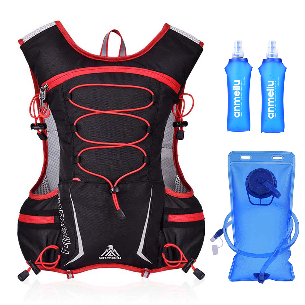 Running Hydration Pack Bag Backpack Rucksack  Vest Harness Water Bladder Camping Hiking Marathon Race Sports 5L