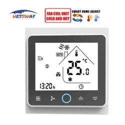 HESSWAY 2P i 4P cyfrowy termostat pokojowy cewka wentylatora do klimatyzatora
