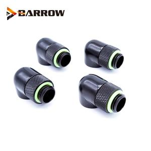 Image 4 - G1/4 90 Graden Roterende Harde Buis Fitting Adapter Roterende 90 Graden Waterkoeling Adapters 4 Stks/partij Of 6 Stks/partij