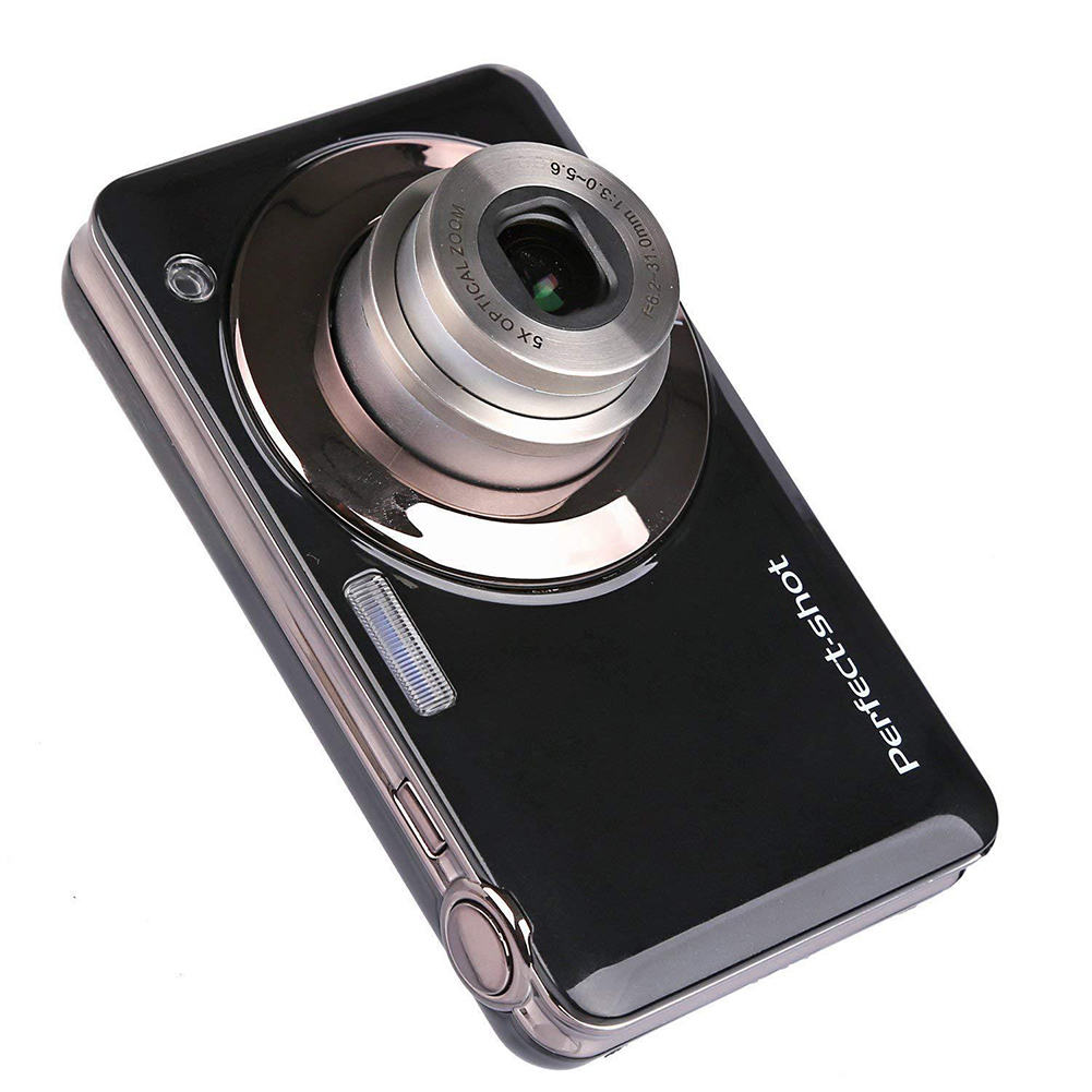 Digital-Camera Compact Optical-Zoom Photo-Gifts Kids 24MP Video-Record Face-Detection title=
