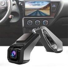 Podwójny obiektyw kamera na deskę rozdzielczą wideorejestrator samochodowy Dvr ADAS 1080P nawigacja USB nagrywanie wideo przednia i tylna kamera ukrywająca U8