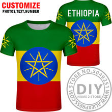 L'ÉTHIOPIE t-shirt bricolage faits sur commande libres nom d'article eth t-shirt drapeau de la nation et logo éthiopien amharique collège photo impression vêtements