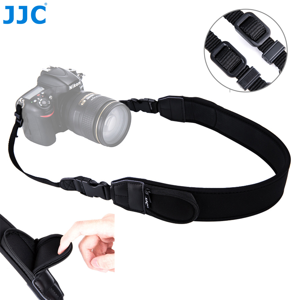 JJC Adjustable Quick Release Comfy Camera Shoulder Neck Strap For Nikon Z6 Z7 P1000 D7500 D5600 Canon EOS R 5DM4 80D 77D 70D T7i