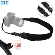 Jjc ajustável liberação rápida confortável câmera alça de ombro pescoço para nikon z6 z7 p1000 d7500 d5600 canon eos r 5dm4 80d 77d 70d t7i