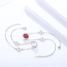Genuine S925 sterling silver bracelet femininity turn beads jewelry garnet bracelet female exquisite hibiscus gemstone bracelet 4mm natural garnet round beads bracelet fashion garnet jewelry bracelet