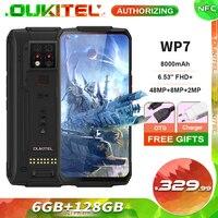 OUKITEL-teléfono inteligente WP7, 6GB + 128GB, 8000mAh, 6,53 pulgadas, visión nocturna infrarroja, Triple CÁMARA DE 48MP, Octa Core, resistente