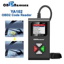 Check Engine Error Code Reader Newest YA102 12V Automotive Tester OBD 2 Scan Tools Multi Language Lifetime Free Update