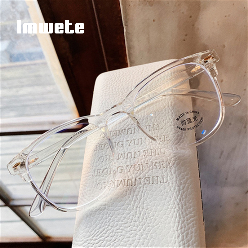 Imwete Vintage Computer Eyeglasses Anti Blue Light Glasses Frame Women Men Clear Lens Eyeglasses Transparent Frames Spectacles