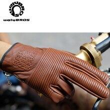 Uglybros Da Thật Chính Hãng Da Găng Tay Xe Máy Moto Màn Hình Cảm Ứng Thoáng Khí Đua Đi Xe Máy Găng Tay Guantes Motocross Luvas