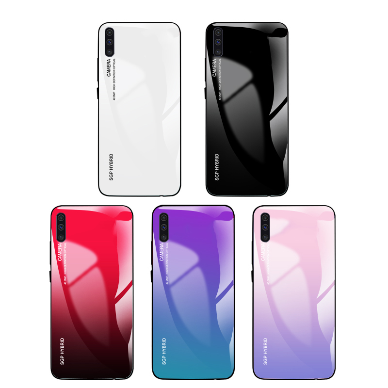 Gradient Tempered <font><b>Glass</b></font> Phone <font><b>Case</b></font> For <font><b>Samsung</b></font> Galaxy A50 A70 A40 A30 A20e S 10 <font><b>A</b></font> 50 J6Plus <font><b>Case</b></font> Back Cover For Note 10 S10 Plus image