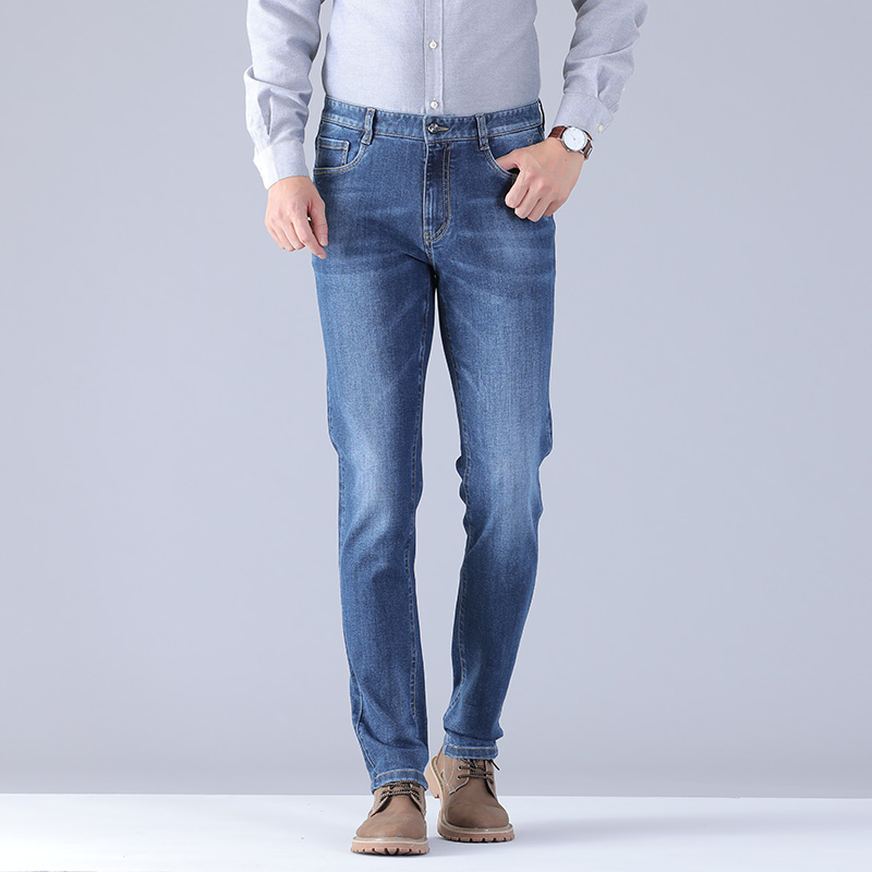 Brand Jeans For Men Slim Fit Pants Classic 2019 Jeans Male Denim Jeans Designer Trousers Casual Skinny Straight Elasticity Pants