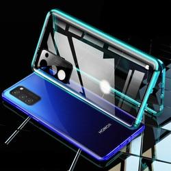 На Алиэкспресс купить стекло для смартфона magnetic phone case for huawei honor v30/v30 pro 5g camera lens glass cover metal bumper for honor 30 pro/30s front back cover