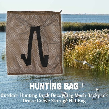 120cm x 75cm Duck Goose Turkey Decoy Bag Mesh With Shoulder Straps Bird Hunting Net Mesh for Hunting Backpack 2