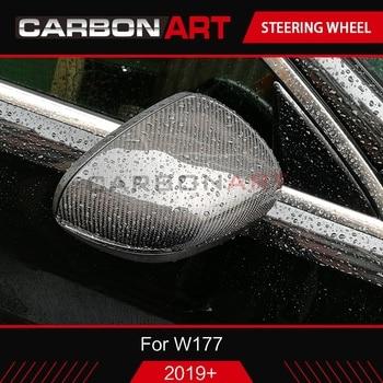 W177 2019 Carbon Fiber rear side view Mirror Cover For Mercedes W177 New A Class A180L A200L Carbon Mirror Cover Caps 2018+
