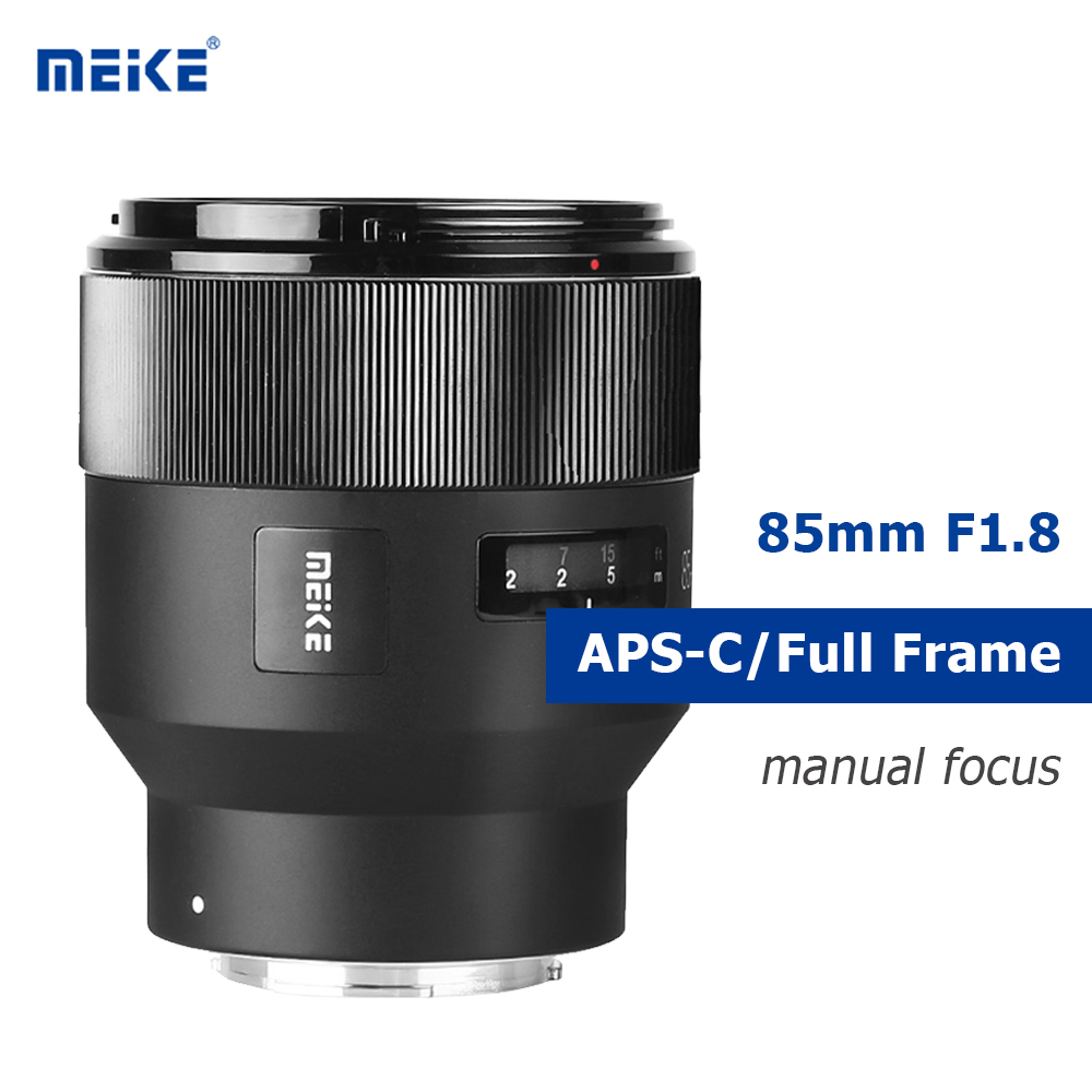 MEIKE 85mm F1.8 Camera Lens Fixed Manual Focus Lens Supports APS-C/Full Frame Lens For SONY E Mount Camera A7RIII A7III A7M3
