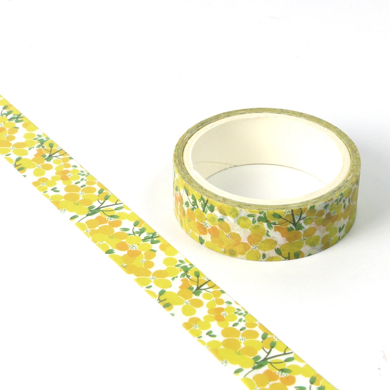 NEW 1X Cute Cole Flowers Washi Tape For DIY Planner Scrapbooking Decorative Masking Tape School Office Supplies