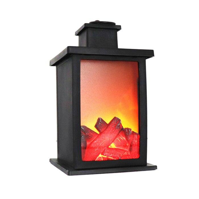 1 pçs lareira led efeito ardente lanterna