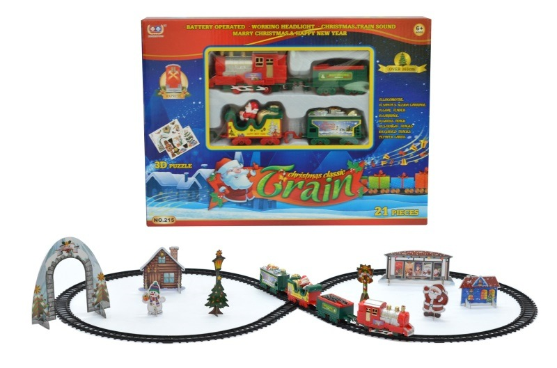 Model Electric Sound-And-Light Rail Train Christmas Music Rail Train Christmas Series Creative Gifts Toy