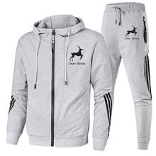 2021 new male hoodie hooded long sleeve leisure sports suit male and female couples two pieces of street sports