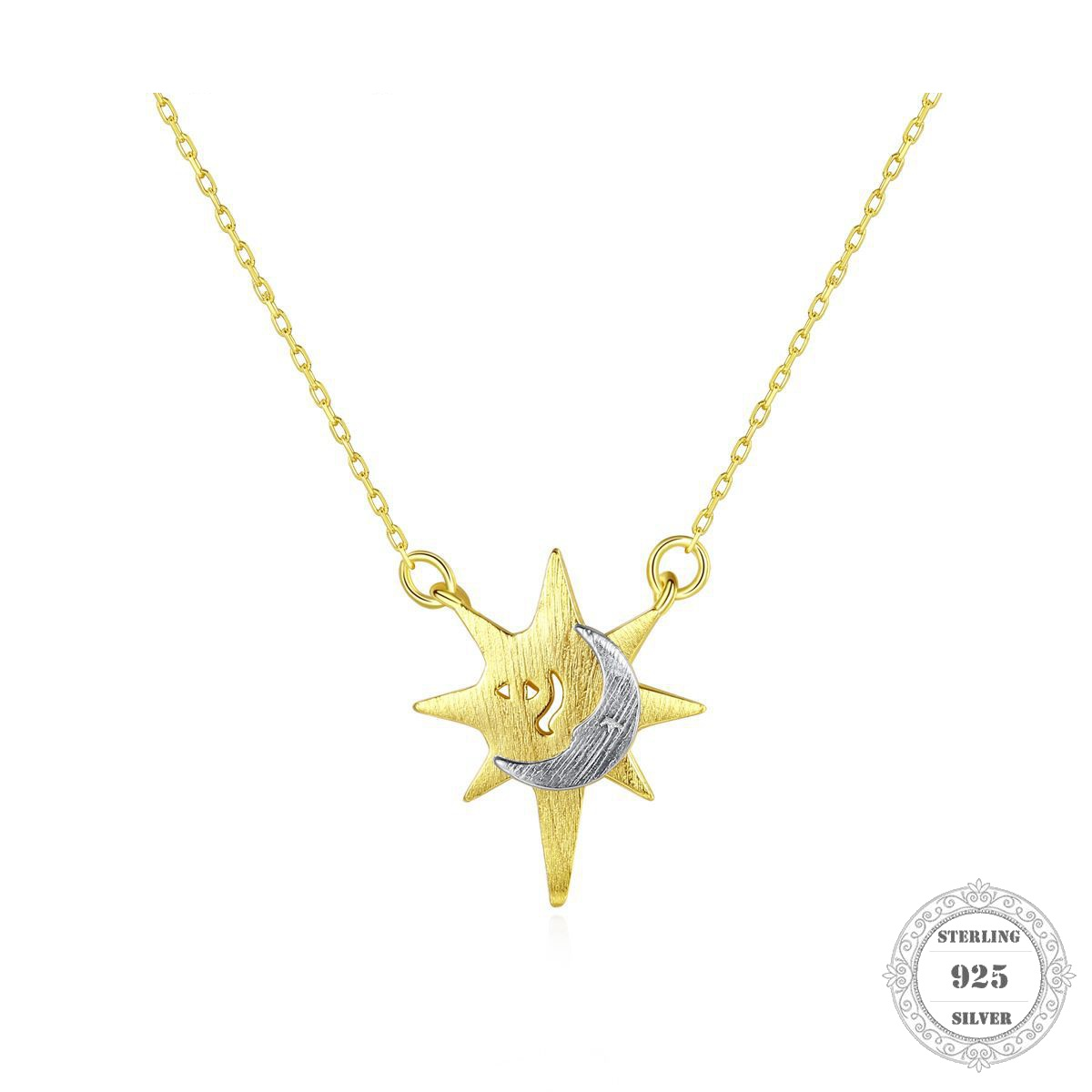 Charm Necklace Moon & Star,2020 Spring Brand New Ts Fashion Charm Jewelry Thomas 925 Sterling Silver Bijoux Gift For Women Men