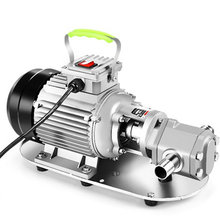 Power 220V/380V WCB Protable Gear Oil Pump with Motor WCB-75P WCB-100P, 304 Stainless Steel Fuel Transfer Pump for WVO WMO 2000w big power stainless steel barrel pump for syrup glue ink coating honey d98