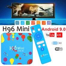 купить H96 Mini Android 9.0 TV Box Allwinner H6 Quad Core 6K H.265 Wifi netflix youtube 4K Set top box smart tv box H96mini 4GB128GB дешево